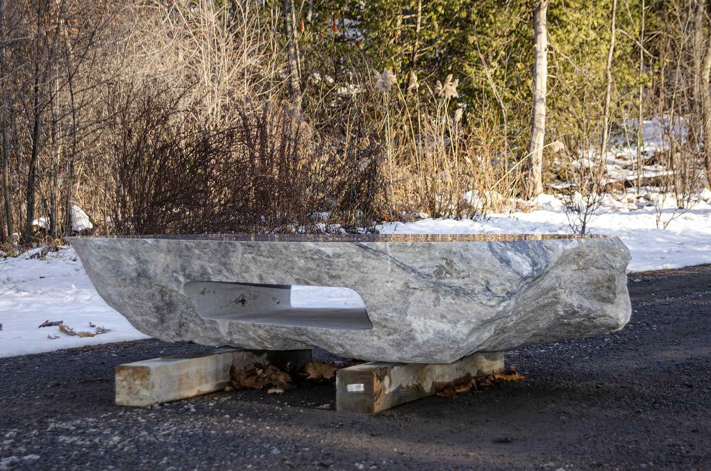 Polished Granite Boulder Table
