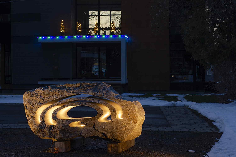 LED Stone landscape light at night