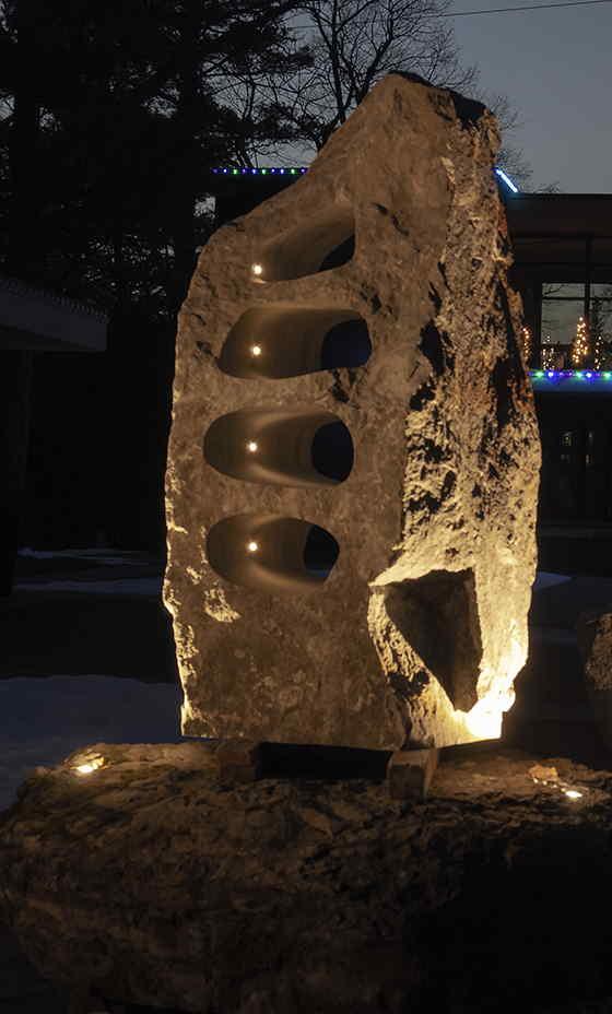 Custom LED Stone light